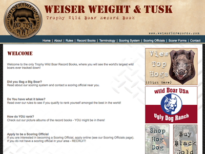 Weiser Weight & Tusk World Records
