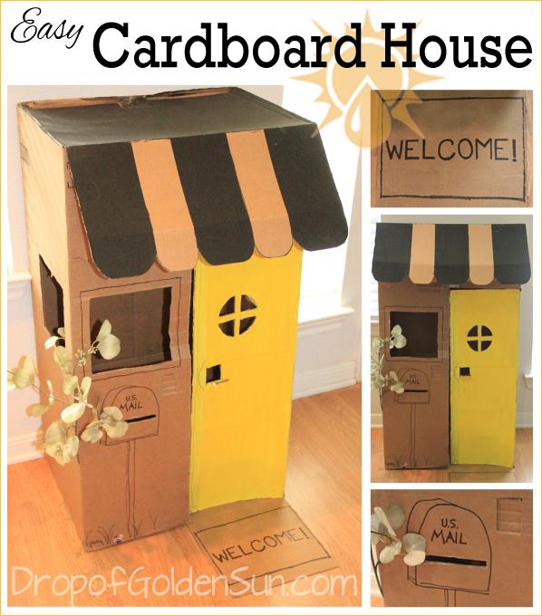 Easy Cardboard House | Drop of Golden Sun